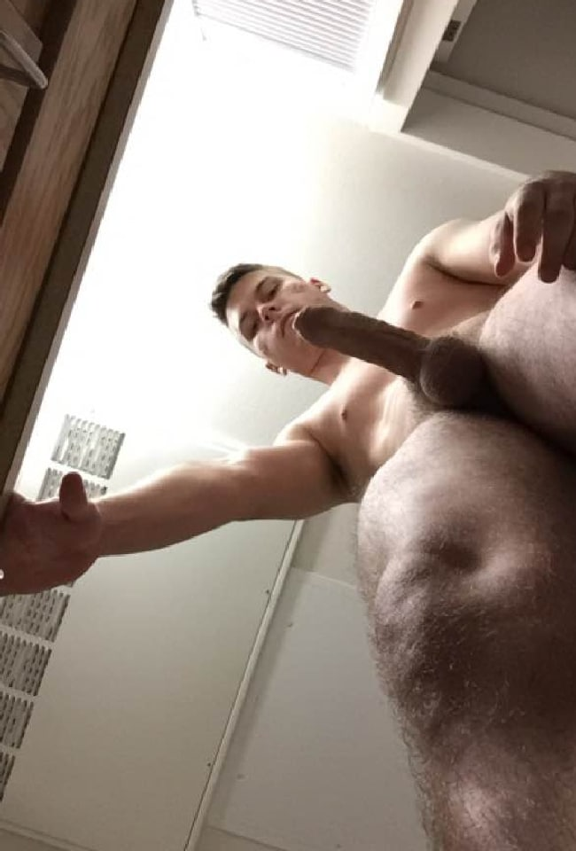 Man Take A Picture Of His Erection - Horny Nude Boys