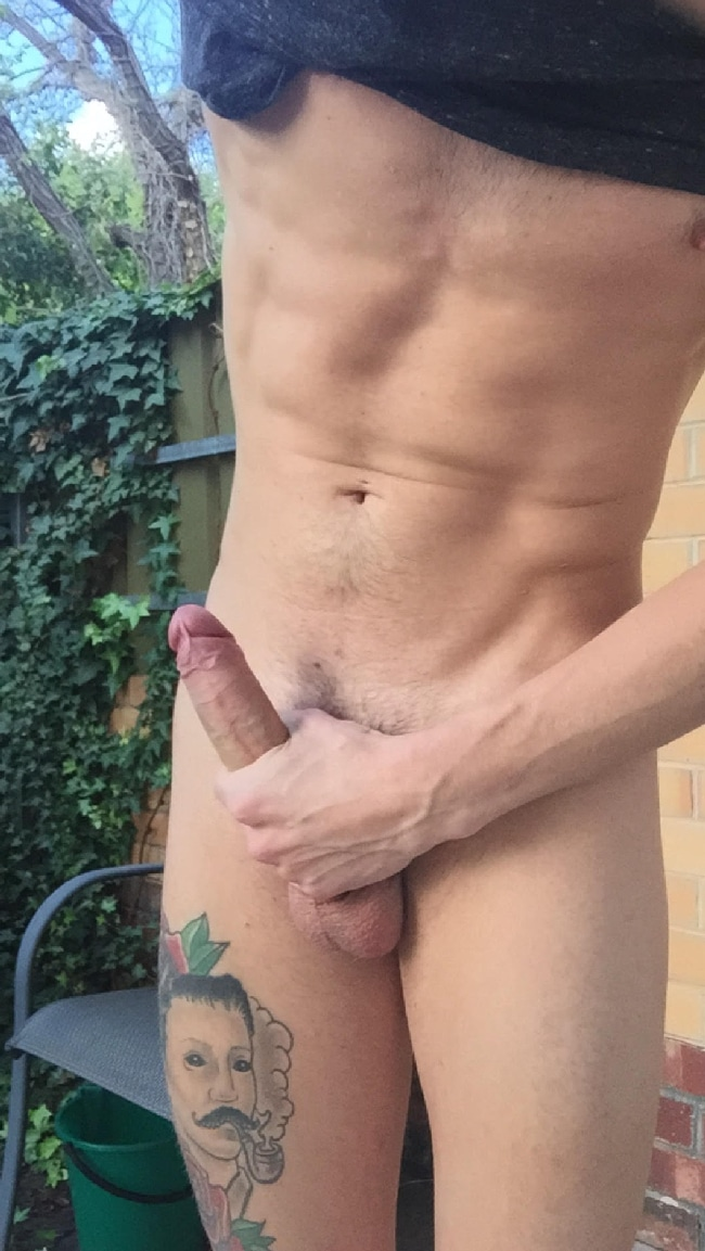 Jerking Off Outdoors
