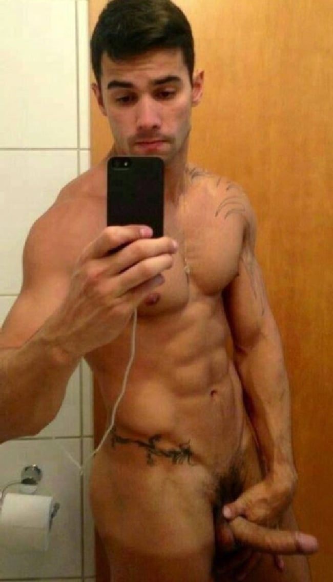 Sexy Nude Hunk With Erected Penis - Horny Nude Boys