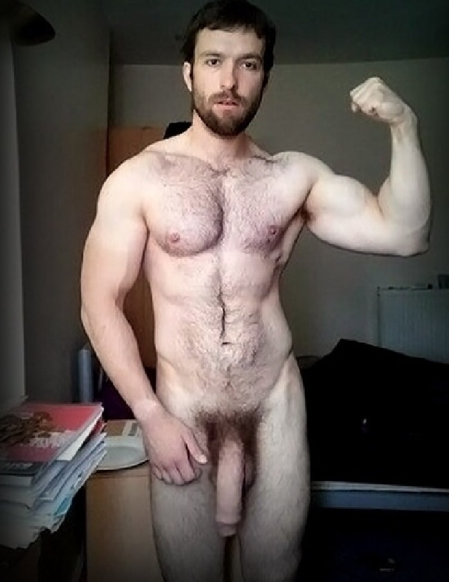 Hunky Nude Man With A Big Cock - Horny Nude Boys